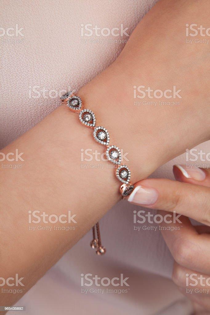 Diamond Bracelet Jewellery Product zbiór zdjęć royalty-free