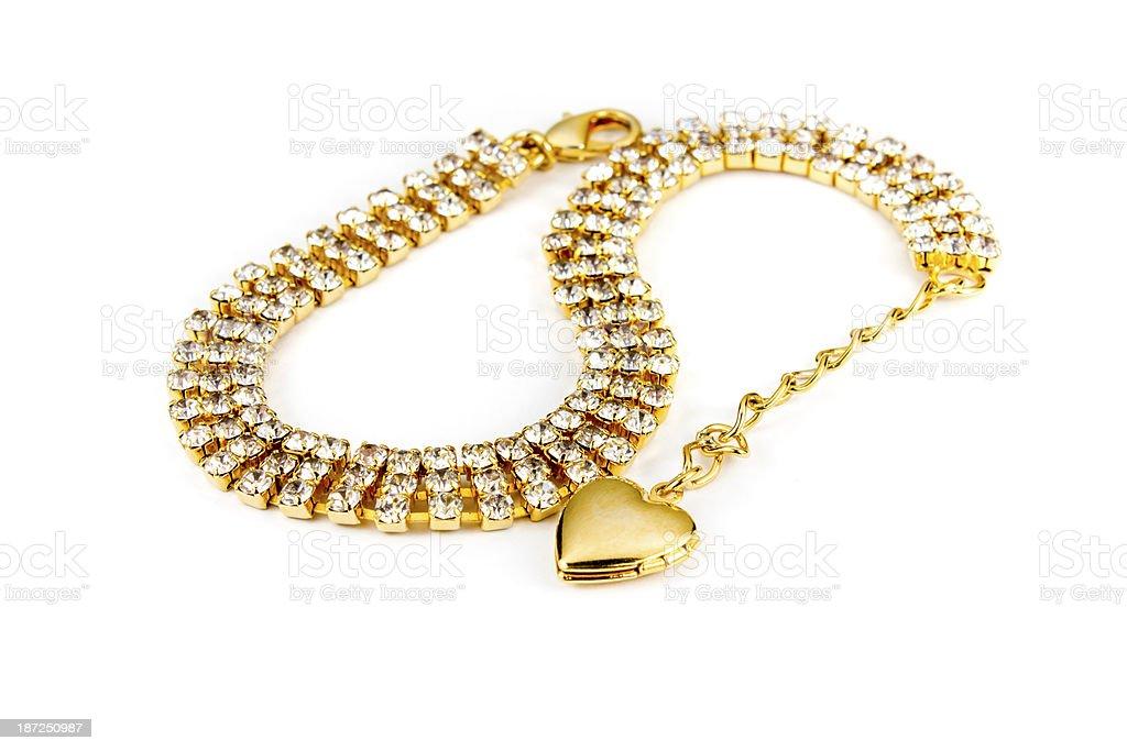 Diamond bracelet royalty-free stock photo