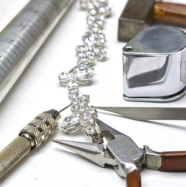 diamond-armband - halskette weißgold stock-fotos und bilder