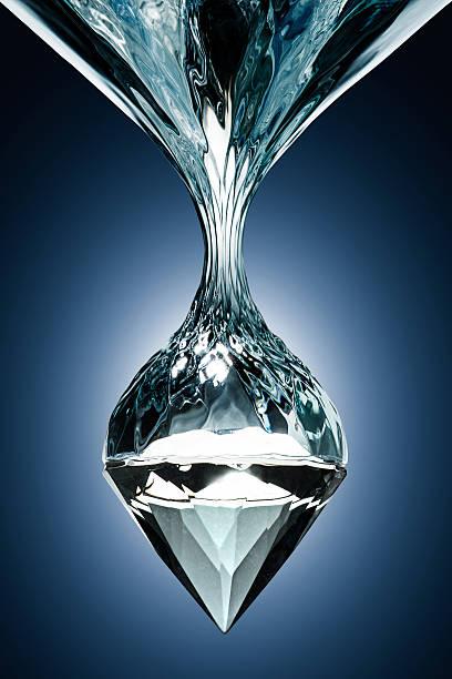 diamond bullet trough the water stock photo
