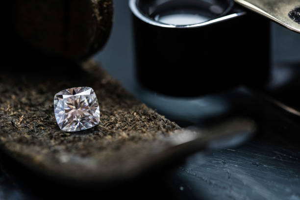 coussin brunoises - diamant pierre précieuse photos et images de collection