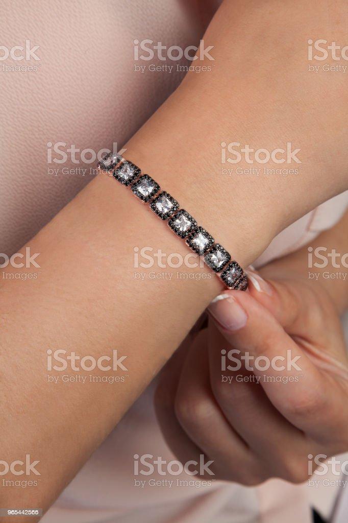 Diamond Cut Bracelet Jewellery Product Photography royalty-free stock photo