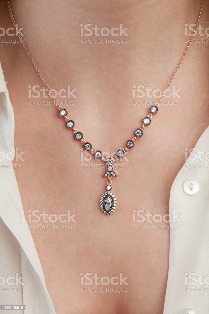 Corte de diamante joias colar - foto de acervo