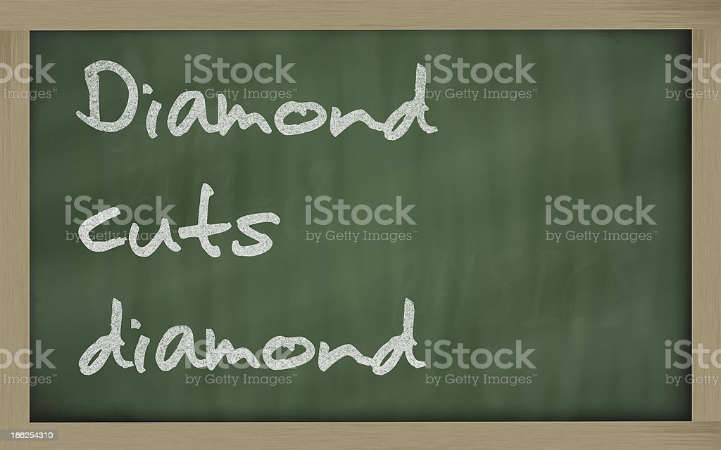 Diamond cuts diamonds stock photo