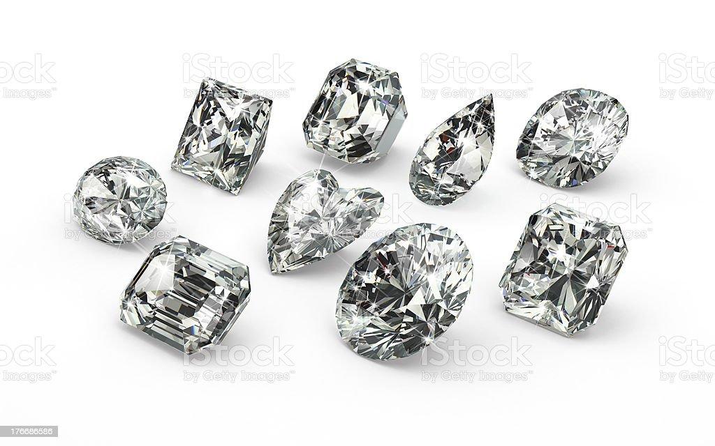 Diamond Cuts royalty-free stock photo
