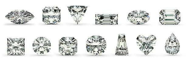 Diamond Cuts stock photo