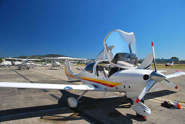 Diamond DA40 CS airplane stock photo
