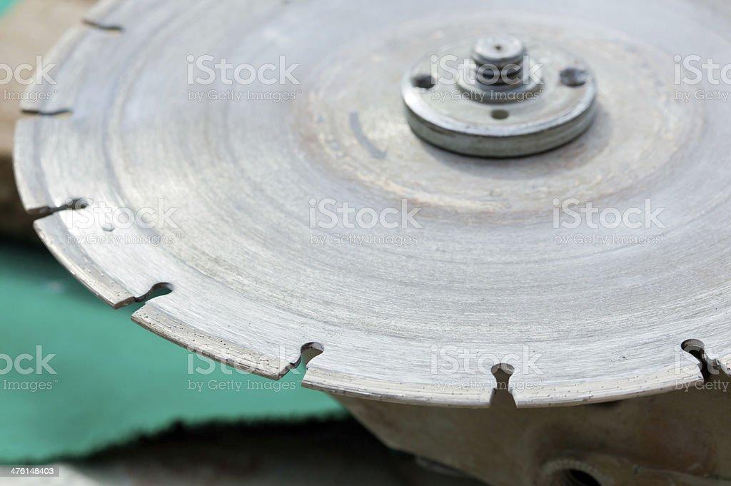 Diamond disc for angle grinders stock photo