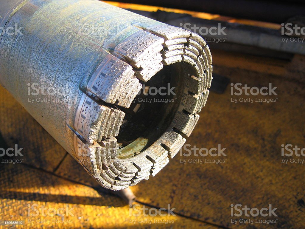Diamond Drill Bit stock photo