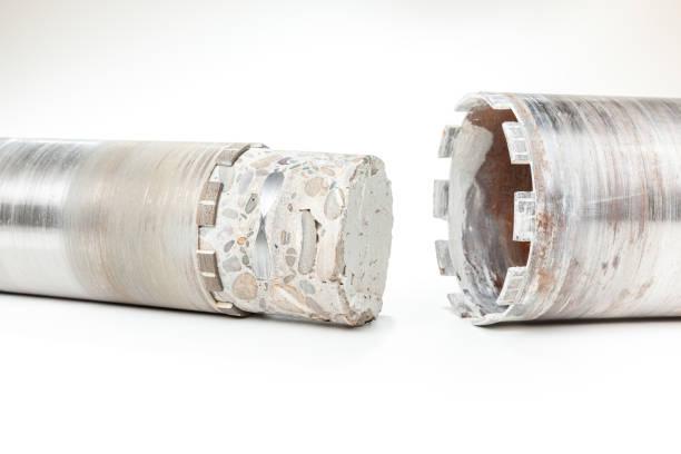 Diamantbohrer mit Beton – Foto