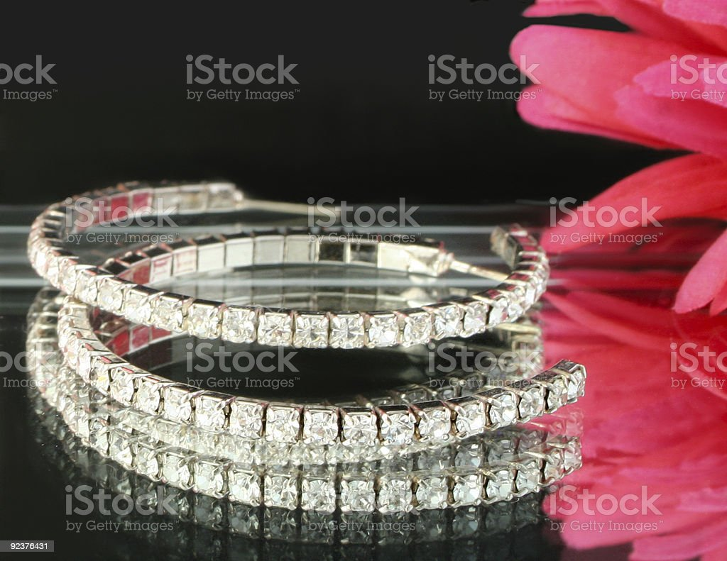 diamond earings royalty-free stock photo