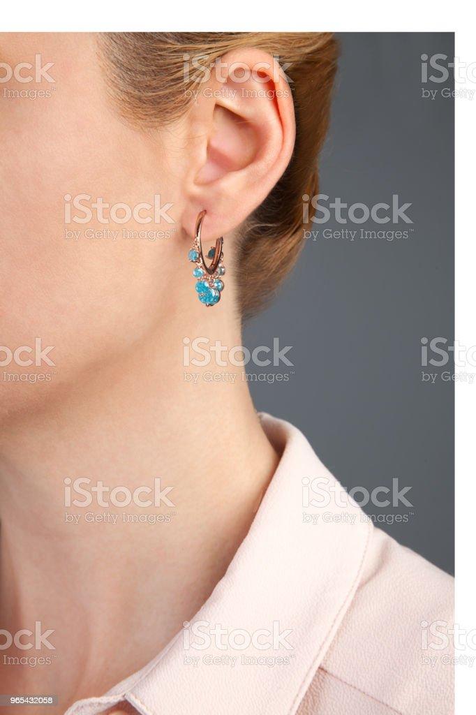 Diamond Earring Jewellery Product Photography zbiór zdjęć royalty-free