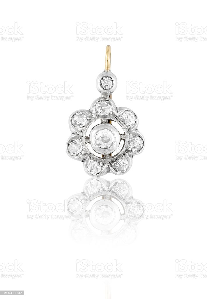 Diamond Earring. stock photo