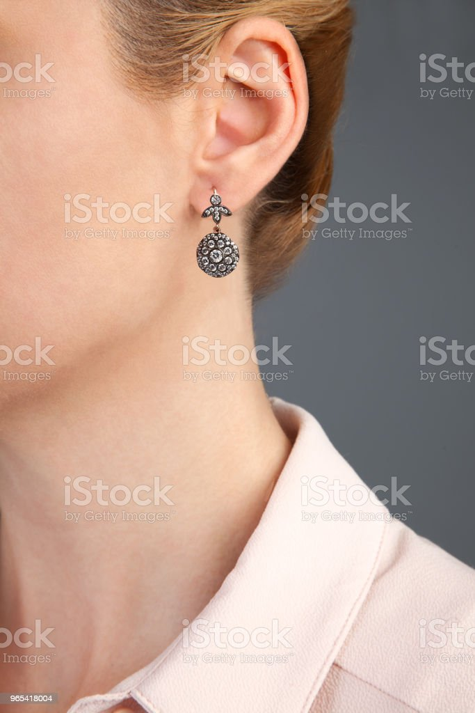 Diamond Earring Product Photography royalty-free stock photo