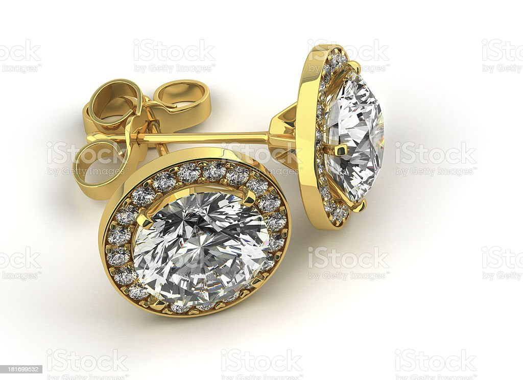 Diamond Earrings stock photo