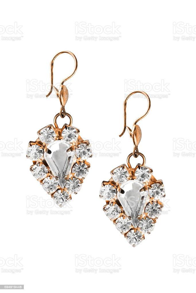 Brincos de diamante - foto de acervo