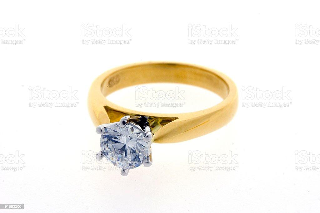 Diamond Enagaement Ring stock photo