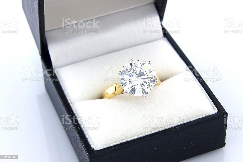 Diamond Engagement Ring 3 stock photo