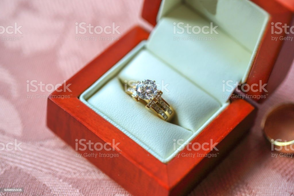 Diamond Engagement Ring In Box Stock Photo More Pictures of Close