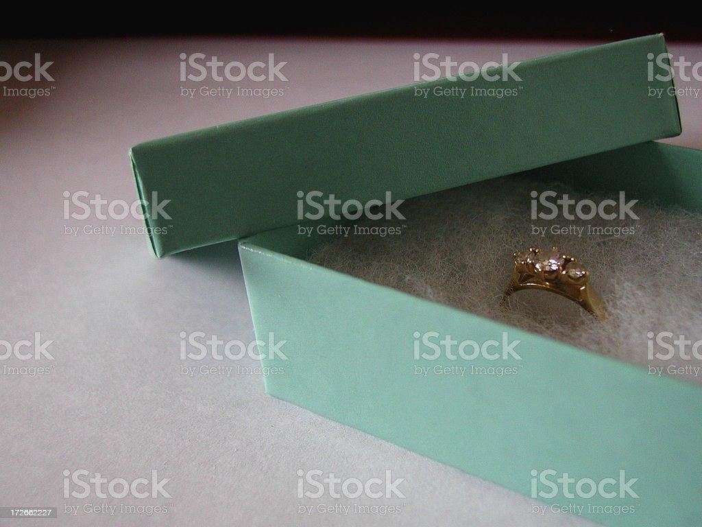 Diamond engagement ring jewelery stock photo