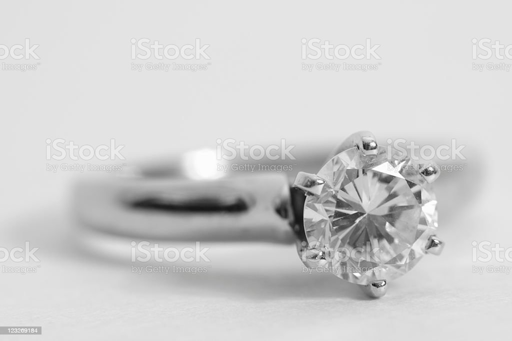Diamond engagement ring royalty-free stock photo
