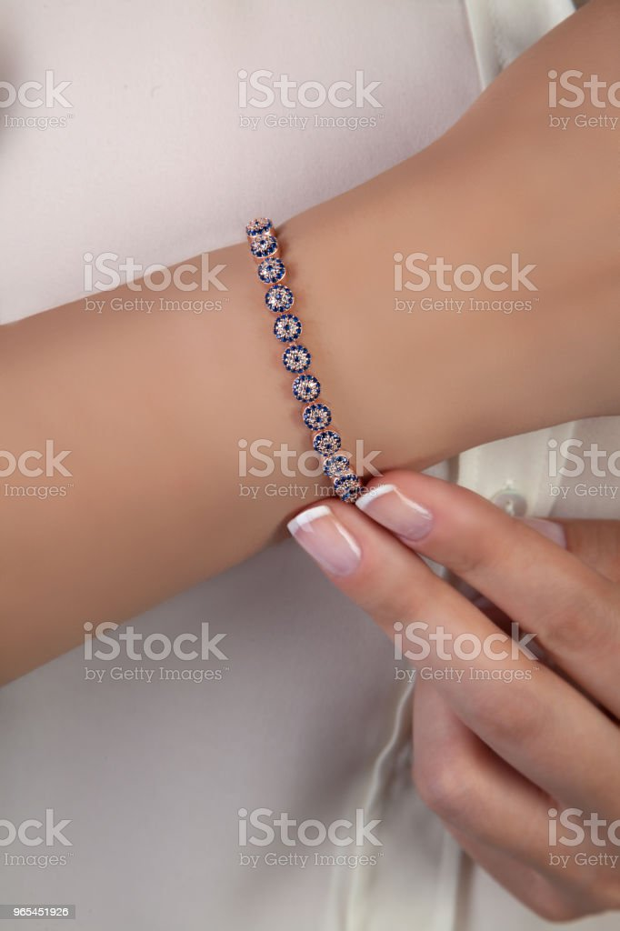 Diamond Evil Eye Bracelet royalty-free stock photo