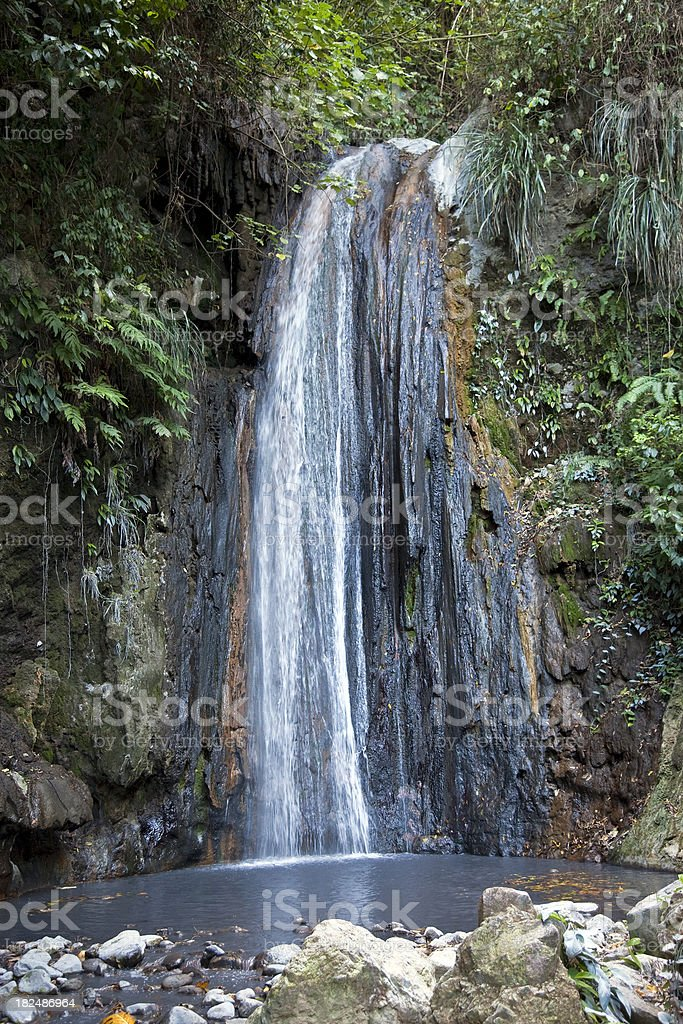 Diamond falls, St. Lucia stock photo