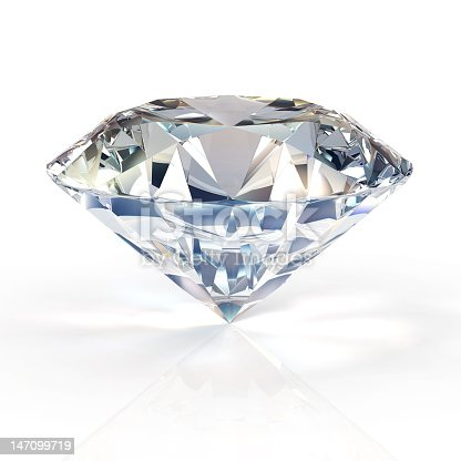 istock Diamond for engagement rings. Beautiful round shape emerald pictures . 147099719