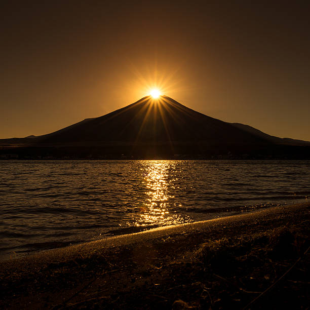 Diamond Fuji stock photo