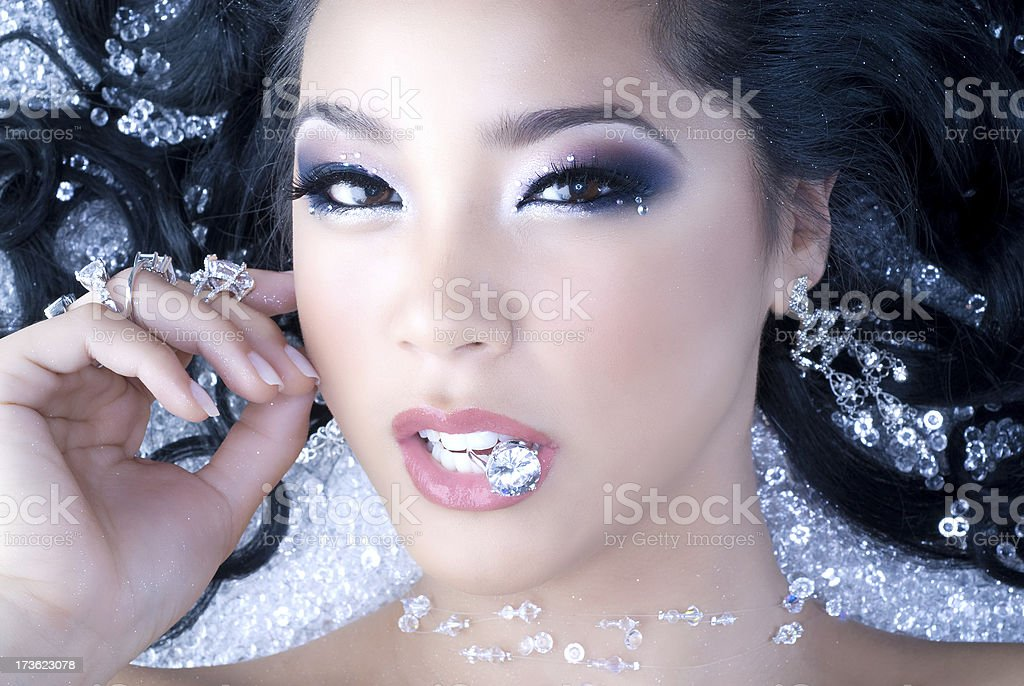 Diamond Girl stock photo