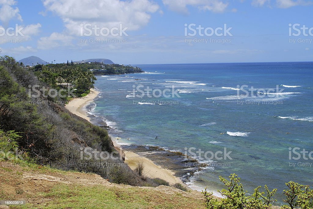 Diamond Head Cliffs, Oahu. royalty-free stock photo