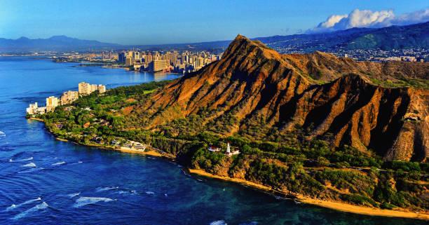 Diamond Head Crater, Honolulu,HI stock photo