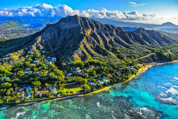Diamond Head Crater,Honolulu, HI stock photo