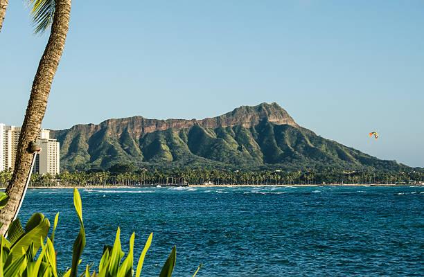 Diamond Head Hawaii stock photo