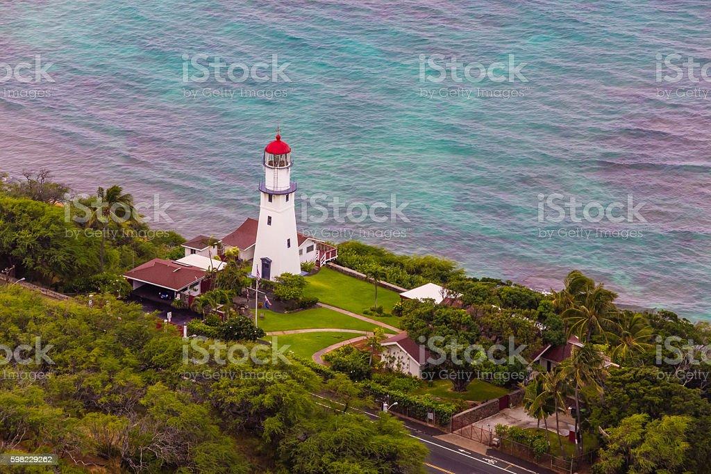 Diamond head lighthouse, Hawaii foto royalty-free