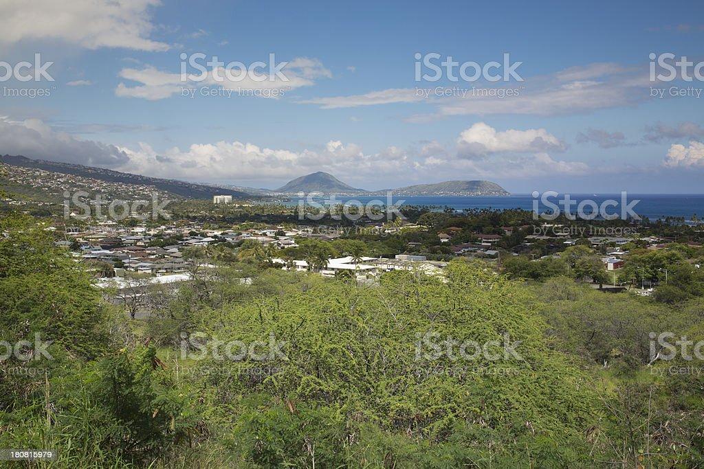 Diamond Head, Oahu, Hawaii royalty-free stock photo