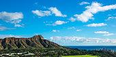 Diamond head in Waikiki Hawaii with blue sky