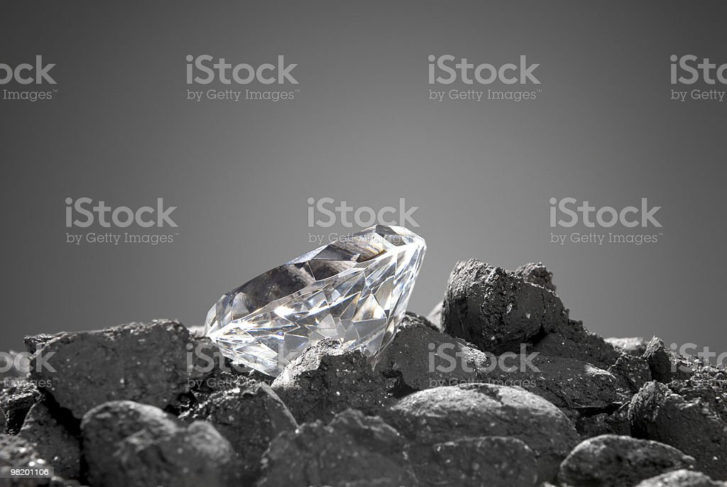 Diamond in the rough royalty-free stock photo