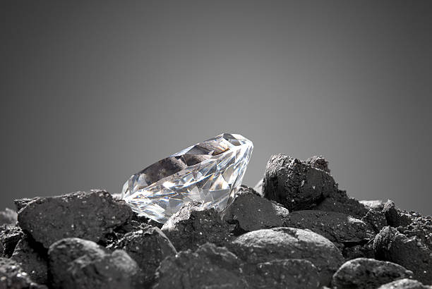 Diamond in the rough stock photo