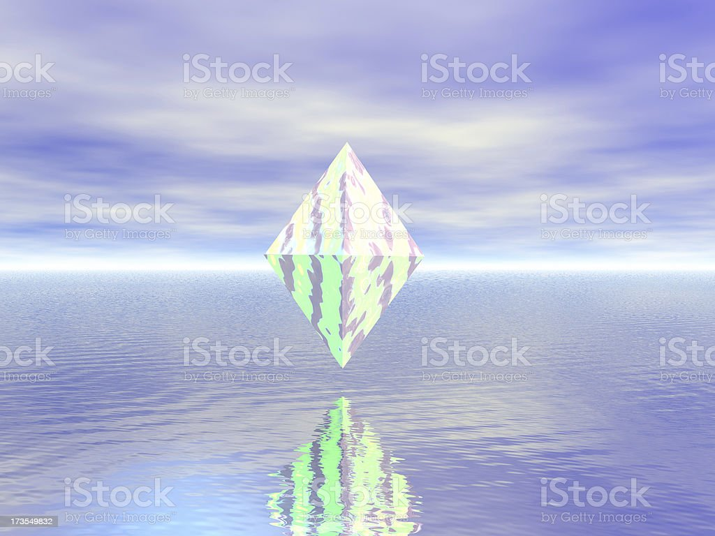 Diamond in the Sky royalty-free stock photo
