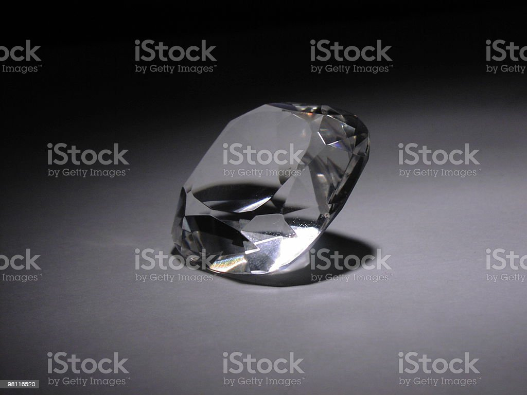 diamond in the spotlight royalty-free stock photo