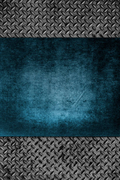 diamond iron plate texture and wood background - musica industrial foto e immagini stock