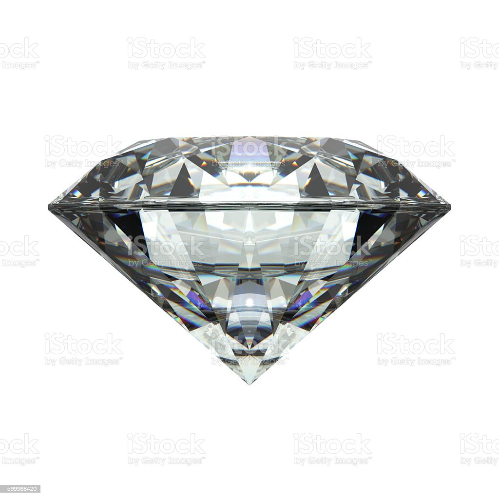Diamond, isolated on White stock photo