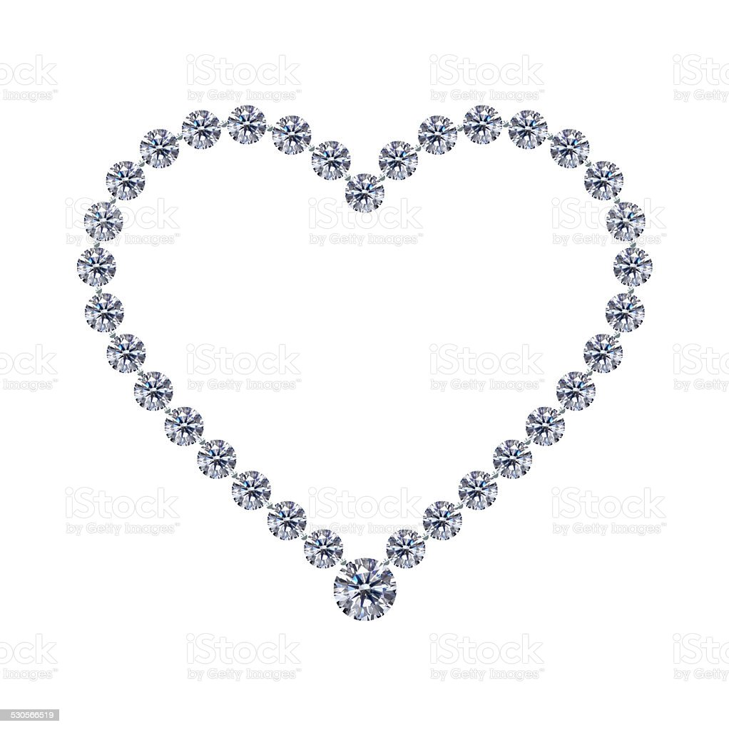 Diamond jewel heart Valentine's Day stock photo