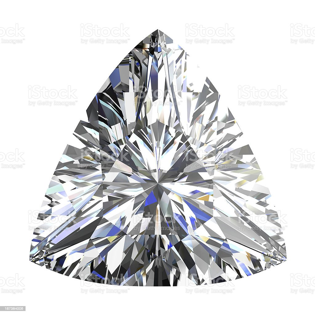 diamond jewel on white background royalty-free stock photo