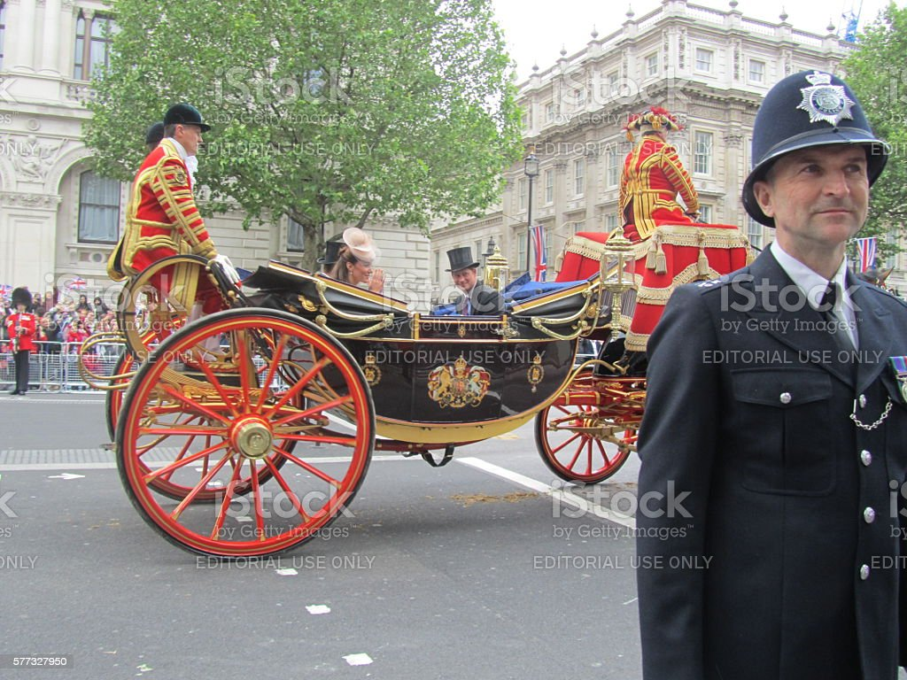 Diamond Jubilee Parade in London stock photo