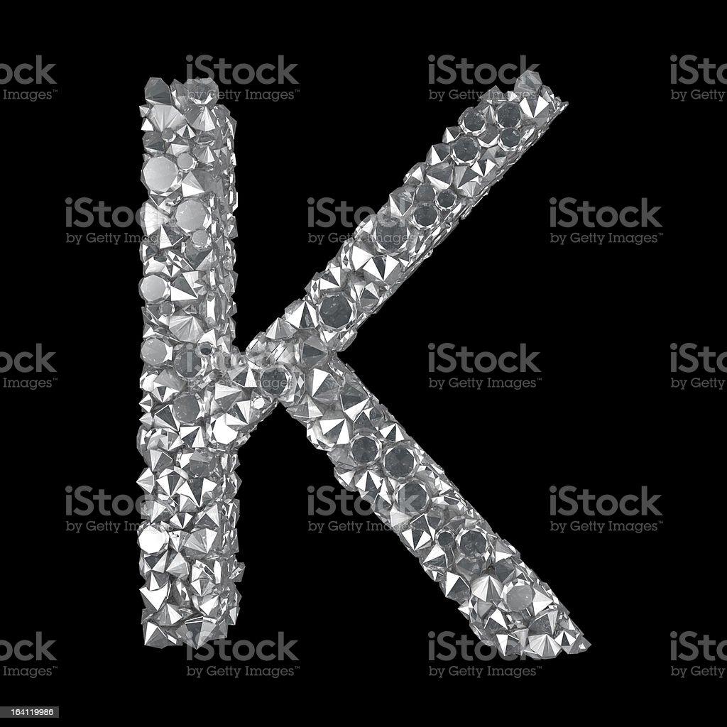 Diamond Letter K royalty-free stock photo