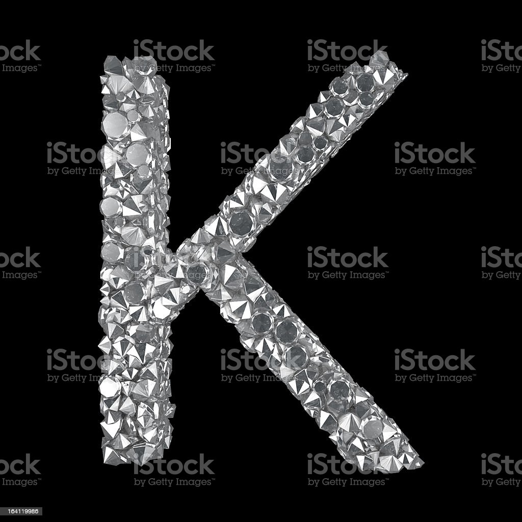 Diamond Letter K stock photo