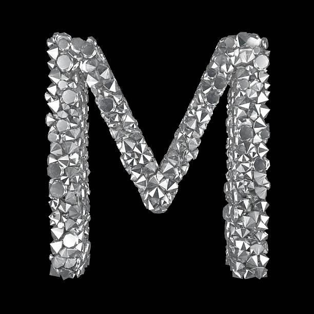 Diamond Letter M stock photo