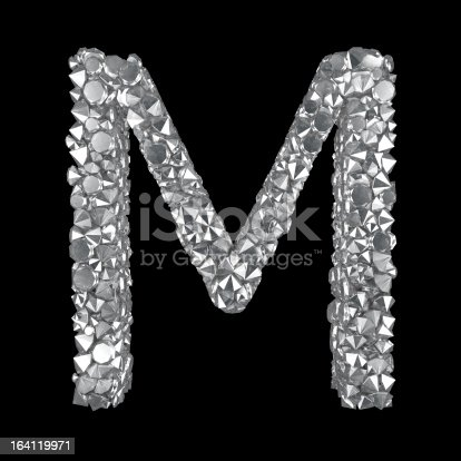 Diamond Letter M Stock Photo & More Pictures of Abstract ...